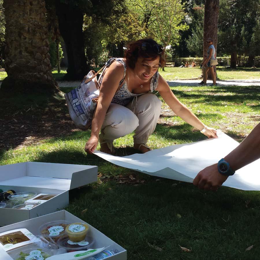 picnic in rome villa borghese