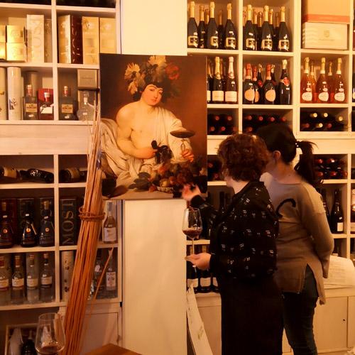 caravaggio wine and art